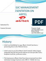 Project on Strategic Management of Airtel_189168173