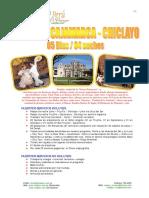 Trujillo Cajamarca Chiclayo 5d4n
