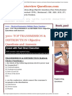 Transmission & Distribution Objective Questions and Answers