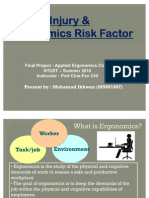 Injury & Ergonomics Risk Factor