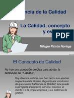 PRESENTACION I CALIDAD, CONCEPTO Y EVOLUCIÓN.ppt