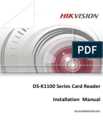 Installation Manual of DS-K1100 Series_Card Reader_V1.1