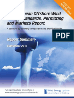 European Offshore Wind Energy Standards, Permitting and Markets Report