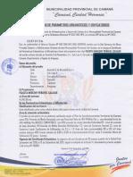 Certificado Parametros Urbanisticos y Edificatorios - Sub Lote a - Tulipanes