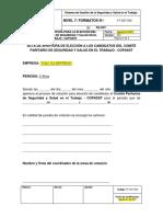 FT-SST-009 Formato de Apertura Elección Del COPASST