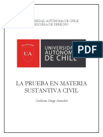 GSA - La Prueba en Materia Substantiva Civil - 2017