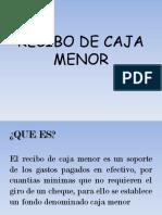 Recibo de Caja Menor