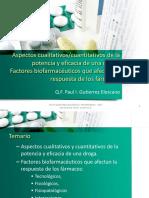 2da Semana Biofarmacia UMA Potencia  Eficacia y Factores Biofarmacéuticos 2017.pdf