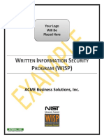 2018.1 Example WISP NIST CSF Written Information Security Program
