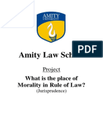 Place of Morality in Rule of Law - Jurisprudence Assignment