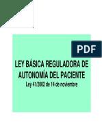 Ley Autonomia Del Paciente