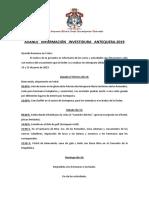INFORMACIÓN INVESTIDURA 2019