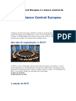 O Banco Central Europeu é o Banco Central Da Fonte