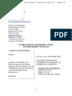 Roberts Alien Carry Scheduling Conf Statement Alien Case