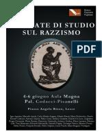 Manifesto Grande Giornate Di Studio Sul Razzismo