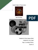 Sport Psyo Assign 1