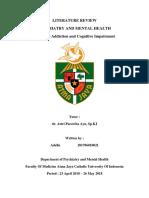 Referat - Cannabis Addiction and Cognitive Impairment