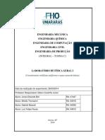 Relatório de Laboratório de Física Geral I - 03