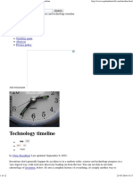 science and technology timeline