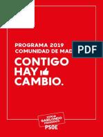 Programa del PSOE para la Comunidad de Madrid
