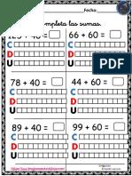 Coleccion de Fichas Sumas Con Descomposicion Numerica PDF 10 13