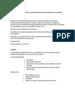 La Alimentación Escolar en Las Instituciones Educativas Públicas de Colombia