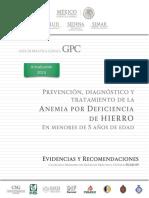 GPC PED 2016 Anemia por deficiencia de hierro en menores de 5 años.pdf