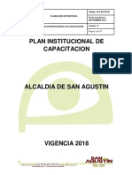Plan Institucional de Capacitacion San Agustin