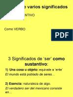 SENTIDOS de SER Metafisica Filosofía Primera(2017)