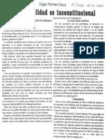 Edgard Romero Nava - La Inamovilidad Es Inconstitucional - El Siglo 08.07.1989