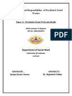 Functions and Duties of Psychiatric Social Work By Sanjay verma