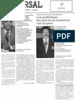 Edgard Romero Nava - Los Problemas Del Pais No Se Resuelven Con Un Paro - El Universal 17.05.1989