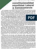 Edgard Romero Nava - Sobre Inconstitucionalidad de La Inamovilidad Laboral Advierte Consecomercio - El Mundo 08.07.1989