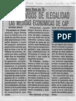 Edgard Romero Nava - Tienen Vicios de Ilegalidad Las Medidas Economicas de CAP - Diario El Mundo 20.04.1989