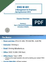 ENGM401-Chap0 Course Overview