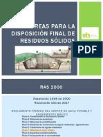 Áreas Para La Disposición Final de Residuos Sólidos