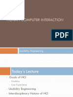 Usability Engineering (Human Computer Intreraction)