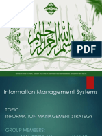 Strategy for Management Information Systems