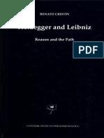 Renato Cristin Heiddegger and leibniz