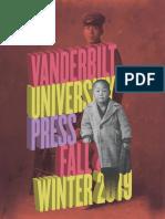 Vanderbilt University Press Fall/Winter 2019 Catalog