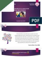 La Historia de La Educación Especial en El Ecuador