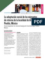 Migracion de Retorno. Experiencia Mexicana. Tarea UG