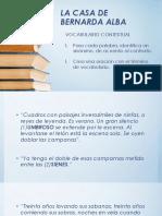 Vocabulario Bernarda Alba