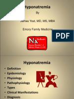 Hyponatremia A