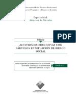 Actividades Educativas Con Parvulos en Situacion de Riesgo Social (1)