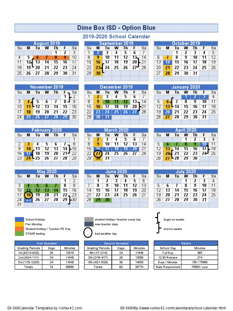 Heb Isd Calendar.Dime Box Isd Approves Four Day School Week Kvue Com