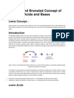 Lewis and Bronsted Concept of Acids and Bases