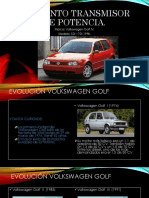sistema de transmision de potencia del volkswagen golf IV modelo 1998
