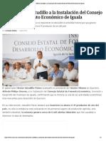 01-04-2019 Acude Héctor Astudillo a la Instalación del Consejo Estatal de Fomento Económico de Iguala.