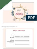 Agenda Docente 11 Editable